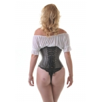 Brown Leather W/cincher Corset*